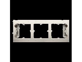 Krabica pre povrchovú montáž 3- násobná krémová