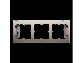 Krabica pre povrchovú montáž 3- násobná zlatá matná