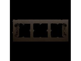 Krabica pre povrchovú montáž 3- násobná hnedá matná