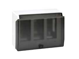 Nástenná skriňa s vekom SIMON 500 3×S500 6×K45 čisto biela