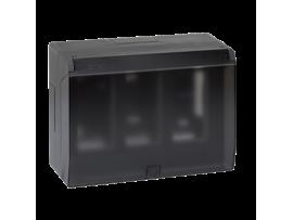 Nástenná skriňa s vekom SIMON 500 3×S500 6×K45 grafitovo-sivá