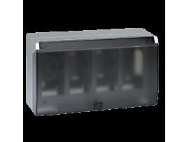 Nástenná skriňa s vekom SIMON 500 4×S500 8×K45 hliník