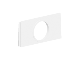 Adaptér pre instalční rúrku fi 22mm pre nástenné skrine SIMON 500 čisto biela