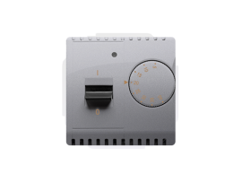 Termostat s vnútorným senzorom nerez, metalizovaný