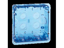 Krabica pod omietku SIMON 500 2×S500 4×K45 modrá transparentný