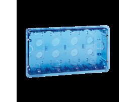 Krabica pod omietku SIMON 500 4×S500 8×K45 modrá transparentný