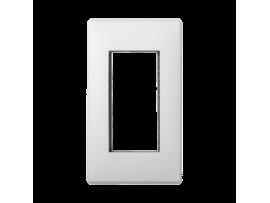 Rámček krabice SIMON 500 1×S500 2×K45 čisto biela