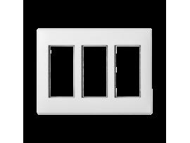 Rámček krabice SIMON 500 3×S500 6×K45 čisto biela