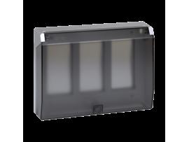 Rámček krabice s krytom SIMON 500 3×S500 6×K45 hliník