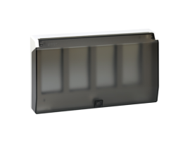 Rámček krabice s krytom SIMON 500 4×S500 8×K45 čisto biela