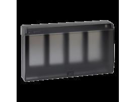 Rámček krabice s krytom SIMON 500 4×S500 8×K45 grafitovo-sivá