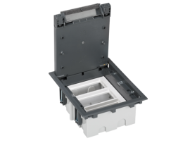 Podlahová krabica SF obdĺžnikový 6×K45 3×S500 93mm128mm sivá