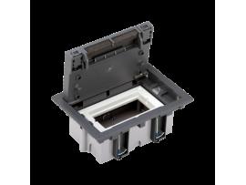 Podlahová krabica SF obdĺžnikový 2×K45 1×S500 70mm105mm sivá