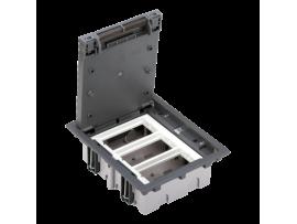 Podlahová krabica SF obdĺžnikový 6×K45 3×S500 70mm105mm sivá