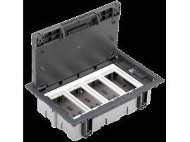 Podlahová krabica SF obdĺžnikový 8×K45 4×S500 70mm105mm sivá