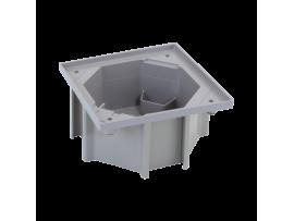 Krabica zásuvky KSE IP66 možnosť spojenia sivá