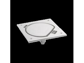 Vklad podlahovej krabice KSE IP66 s imbusovým kľúčom s uzemnenou zásuvkou a RJ45 6 kat. UTP nerezová oceľ :IK07