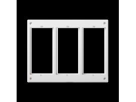 Rámček príslušenstva CIMA 3×CIMA (náhradný diel) čisto biela
