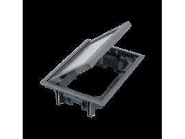Podlahová krabica FB obdĺžnikový 8×K45 5mm sivá 85mm116mm :IK08