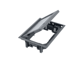 Podlahová krabica FB obdĺžnikový 8×K45 5mm so zámkom sivá 85mm116mm :IK08