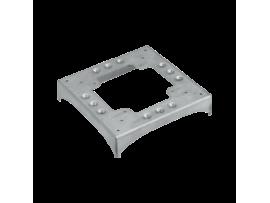 Základ DCS ALU 2 zárezy 85×18 a 2 výrezy 130×18 90º nerezová oceľ