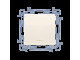 Striedavý prepínač s orientačným podsvietením LED, radenie č. 6 So bez piktogramu krémová 10AX