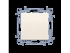 Sériový spínač s krytím IP44, radenie č. 5 krémová 10AX