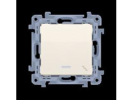 Striedavý prepínač s orientačným podsvietením LED, radenie č. 6 So krémová 10AX