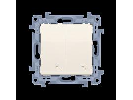 Striedavý prepínač dvojitý, radenie č. 6+6 krémová 10AX