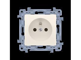 Jedno zásuvka bez uzemnenia krémová 16A