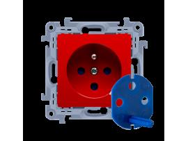Jedno zásuvka DATA s oprávňujúcim kľúčom červený 16A