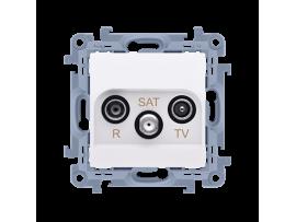Anténna zásuvka R-TV-SAT koncová/zakončená tlm.:1dB biela