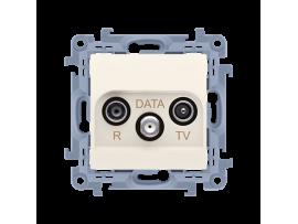 Anténna zásuvka R-TV-DATA tlm.:10dB krémová