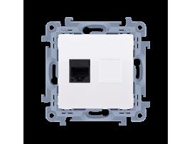 Telefonická zásuvká RJ11 jednoduchá biela