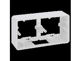 Jednoduchá, skladacia povrchová krabica K45 2×K45 čisto biela