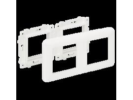 Držiak s rámčekom K45 2×K45 čisto biela