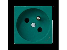Zásuvka K45 s uzemňovacím kolíkom s napäťovou signalizáciou 16A 250V skrutkové svorky 45×45mm zelený