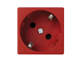 Zásuvka K45 SCHUKO 16A 250V skrutkové svorky 45×45mm červený
