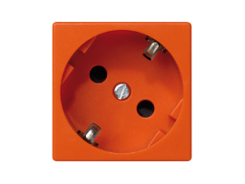 Zásuvka K45 SCHUKO 16A 250V skrutkové svorky 45×45mm oranžový