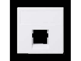 Kryt dátovej zásuvky K45 keystone jednotlivý bez krytu plocha univerzálny 45×45mm čisto biela