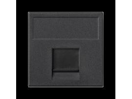 Kryt dátovej zásuvky K45 BELGENCDT jednotlivý plocha s krytom 45×45mm grafitovo-sivá
