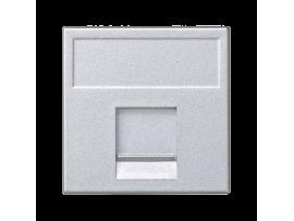 Kryt dátovej zásuvky K45 keystone jednotlivý plocha univerzálny s krytom 45×45mm hliník