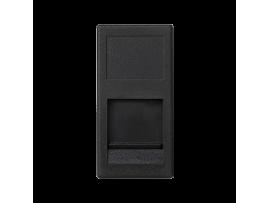 Kryt dátovej zásuvky K45 BELGENCDT jednotlivý plocha s krytom 45×22,5mm grafitovo-sivá
