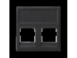 Kryt dátovej zásuvky K45 3M Volition OCK dvojitý bez krytu plocha 45×45mm grafitovo-sivá