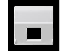 Kryt dátovej zásuvky K45 pre adaptéry MD jednotlivý bez krytu šikmá 45×45mm čisto biela