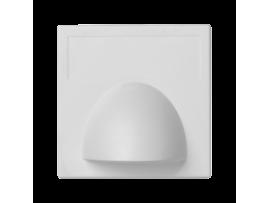 Pripojovací kryt K45 rohová priama 45×45mm čisto biela