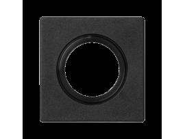 Pripojovací kryt K45 rúrka Ø22 alebo tlmička Ø29 45×45mm grafitovo-sivá