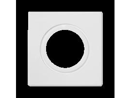 Pripojovací kryt K45 rúrka Ø22 alebo tlmička Ø29 45×45mm čisto biela