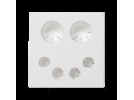 Pripojovací kryt K45 priama 45×45mm čisto biela
