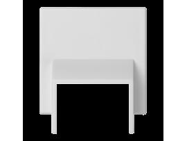 Pripojovací kryt K45 do minikanálov 20x30mm 45×45mm čisto biela